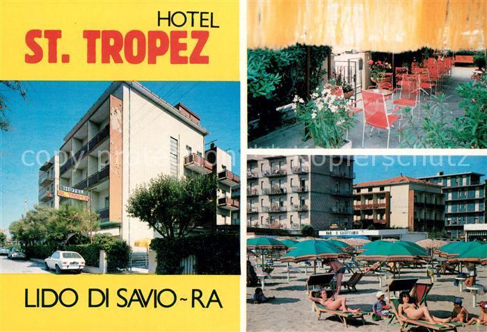 AK / Ansichtskarte Lido_di_Savio Hotel St Tropez Strand Lido_di_Savio 0