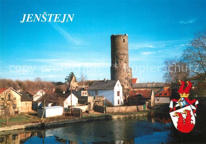 AK / Ansichtskarte Jenstejn Ansicht mit Bergfried Turm Wappen  0