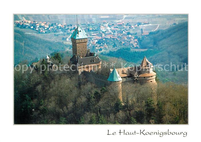 AK / Ansichtskarte Haut Koenigsbourg_Hohkoenigsburg Forteresse feodale vue aerienne Haut Koenigsbourg 0