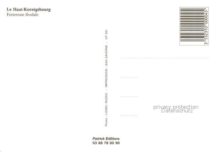 AK / Ansichtskarte Haut Koenigsbourg_Hohkoenigsburg Forteresse feodale vue aerienne Haut Koenigsbourg 1