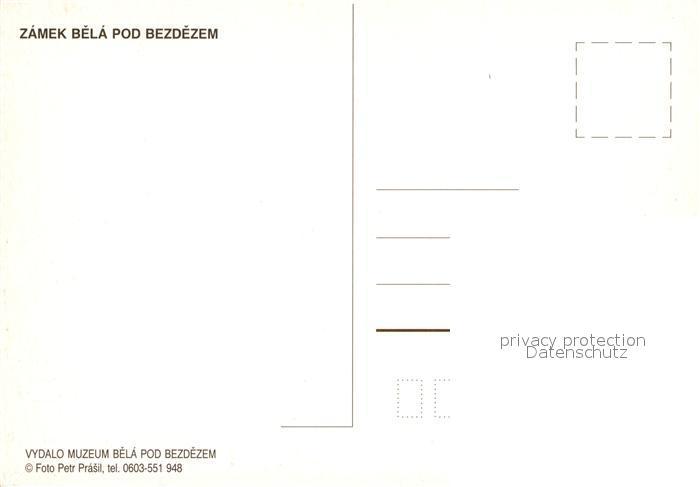 AK / Ansichtskarte Bela_pod_Bezdezem Zamek Schloss  1