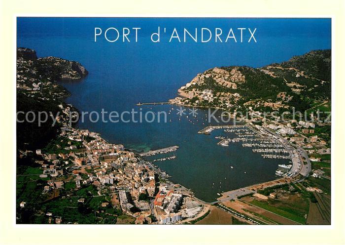 AK / Ansichtskarte Andratx Port Hafen Fliegeraufnahme Andratx 0