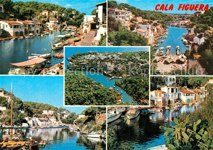 AK / Ansichtskarte Cala_Figuera_Mallorca Teilansichten Hafen Fliegeraufnahme Cala_Figuera_Mallorca 0