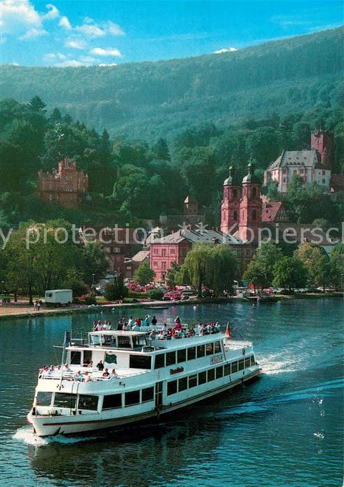 AK / Ansichtskarte Miltenberg_Main Main Personen Schifffahrt MS Roselinde Fahrgastschiff Miltenberg Main 0