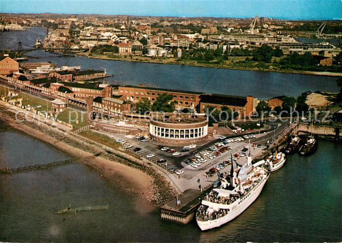 AK / Ansichtskarte Wilhelmshaven Strandhalle MS Wilhelmshaven Fliegeraufnahme Wilhelmshaven 0