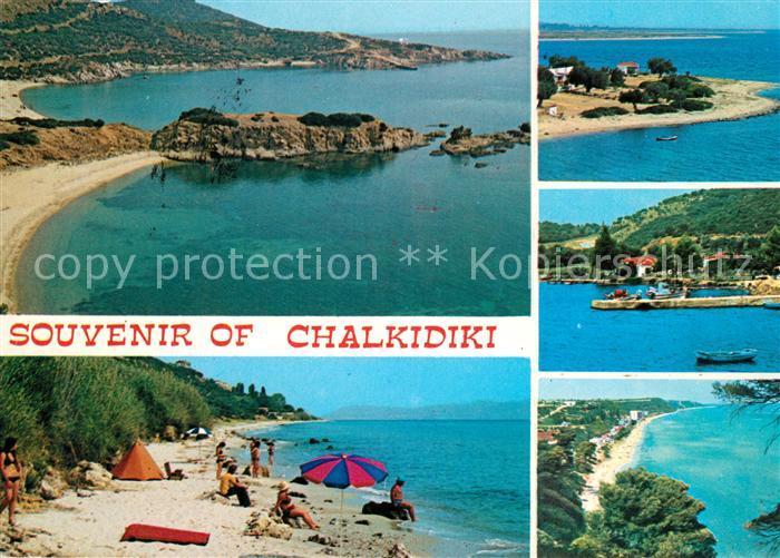 AK / Ansichtskarte Chalkidiki_Halkidiki Panorama Kueste Fliegeraufnahme Strand Chalkidiki Halkidiki 0
