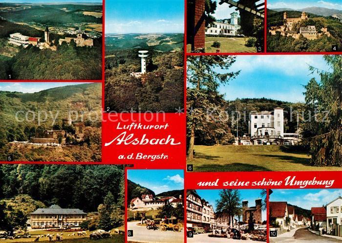 AK / Ansichtskarte Alsbach_Bergstrasse und seine Umgebung Burgen und Schloesser Sanatorium Fuerstenlager Alsbach_Bergstrasse 0