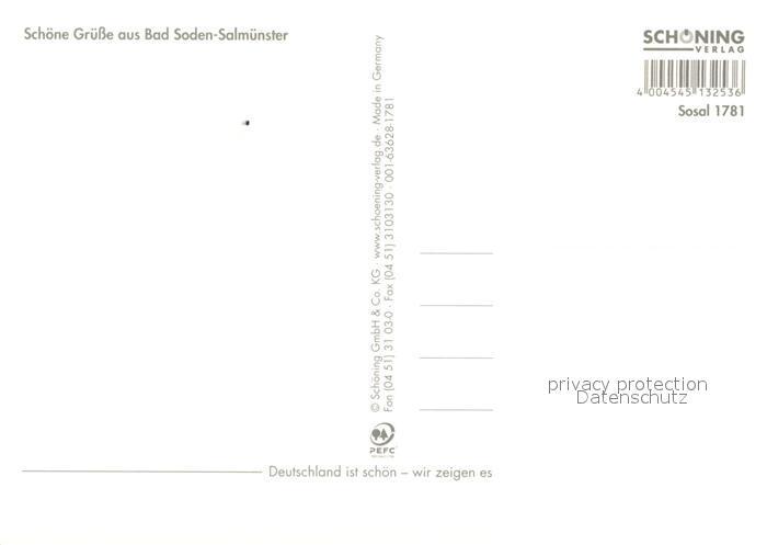 AK / Ansichtskarte Bad_Soden Salmuenster Parkstrasse Klinik Rathausplatz Kirche Schloss Brunnen Landschaftspanorama Kinzigtal Bad_Soden Salmuenster 1