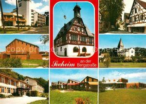 AK / Ansichtskarte Seeheim Jugenheim Teilansichten Kurort Fachwerkhaus Kirche Schule Seeheim Jugenheim