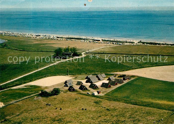 AK / Ansichtskarte Schuby Inter Camping Ferienplatz Schuby Strand Fliegeraufnahme Schuby 0
