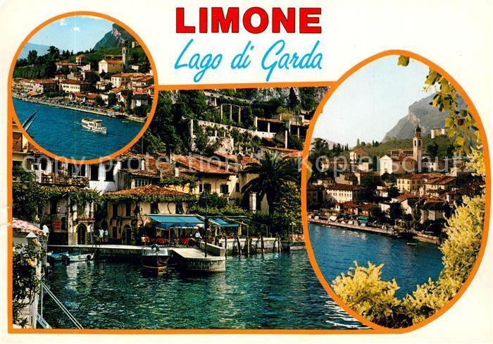 AK / Ansichtskarte Limone_sul_Garda Teilansichten Haeuserpartie am Wasser Limone_sul_Garda 0