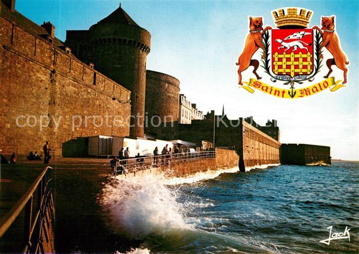 AK / Ansichtskarte Saint Malo_Ille et Vilaine_Bretagne La Porte Saint Thomas et les remparts Tor Waelle Saint Malo_Ille et Vilaine 0