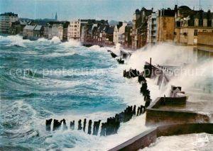 AK / Ansichtskarte Saint Malo_Ille et Vilaine_Bretagne Tempete d equinoxe sur la plage du Sillon Sturm Brandung Saint Malo_Ille et Vilaine