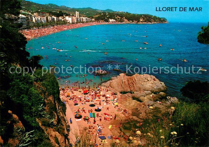 AK / Ansichtskarte Lloret_de_Mar Vista general de la playa Strand Kueste Lloret_de_Mar 0