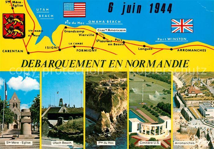 AK / Ansichtskarte Arromanches les Bains Circuit des Plages du Debarquement en Normandie Juin 1944 Arromanches les Bains 0