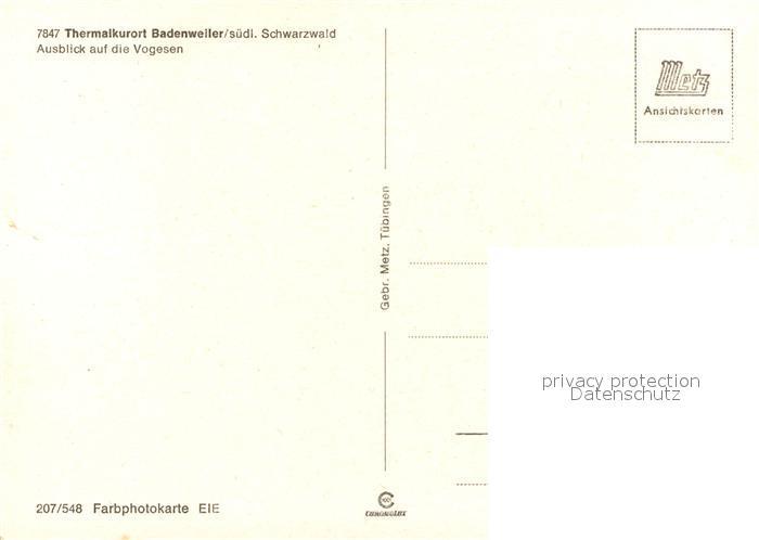 AK / Ansichtskarte Badenweiler Ausblick auf die Vogesen Landschaftspanorama Badenweiler 1