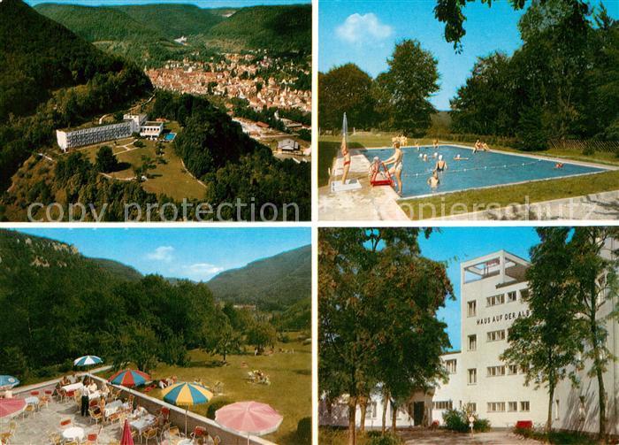 AK / Ansichtskarte Bad_Urach Haus auf der Alb Kurhaus Schwimmbad Fliegeraufnahme Bad_Urach 0