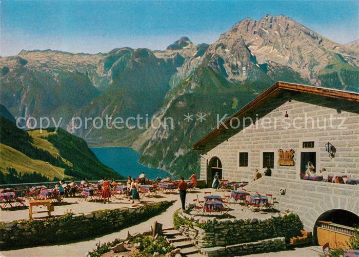 AK / Ansichtskarte Kehlsteinhaus Blick auf Steinernes Meer Koenigssee und Watzmann Berchtesgadener Alpen Kehlsteinhaus 0