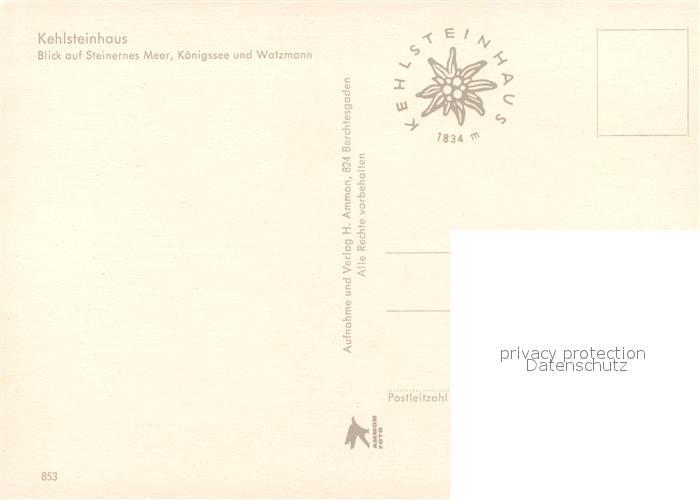 AK / Ansichtskarte Kehlsteinhaus Blick auf Steinernes Meer Koenigssee und Watzmann Berchtesgadener Alpen Kehlsteinhaus 1