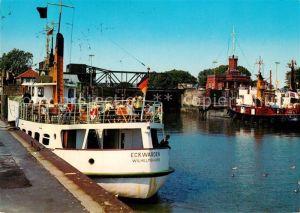 AK / Ansichtskarte Wilhelmshaven Erste alte Hafeneinfahrt Ausflugsdampfer Eckwarden Wilhelmshaven