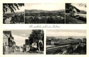 AK / Ansichtskarte Bebra Fuldapartie Bahnhof Nuernbergerstrasse Bebra