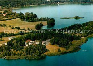 AK / Ansichtskarte Malente Gremsmuehlen Fliegeraufnahme mit Kellersee und Jugendherberge Malente Gremsmuehlen