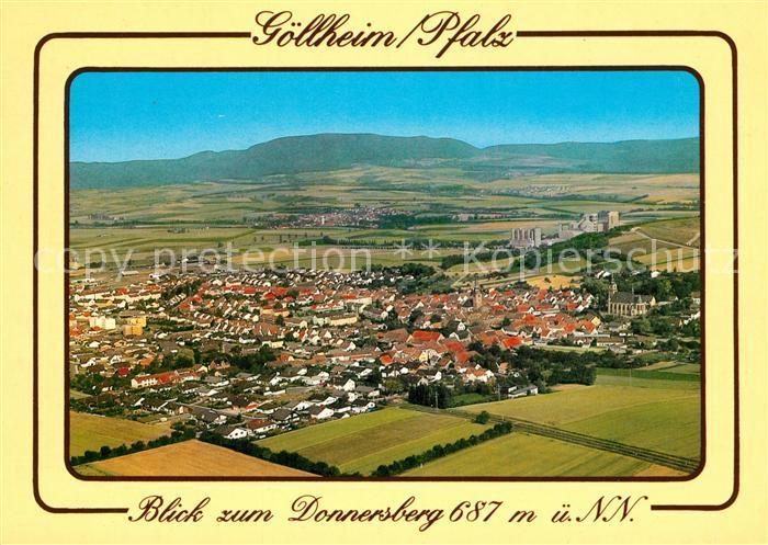 AK / Ansichtskarte Goellheim Blick zum Donnersberg Fliegeraufnahme Goellheim