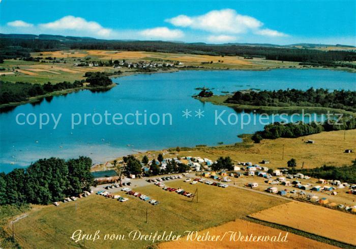 Schmidthahn Dreifelder Weiher Campingplatz Gaststaette Haus Am See Fliegeraufnahme Schmidthahn