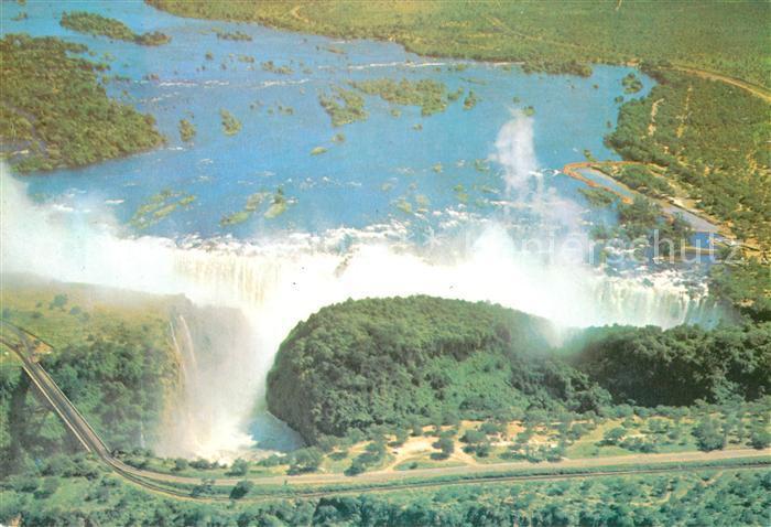 AK / Ansichtskarte Victoria_Falls Aerial View  Victoria Falls