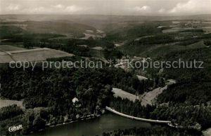 AK / Ansichtskarte Milspe Fliegeraufnahme mit Heilenbecker Talsperre Milspe