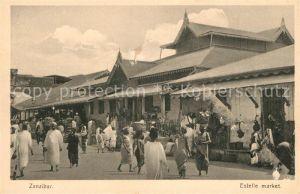 AK / Ansichtskarte Zanzibar Estelle market Zanzibar