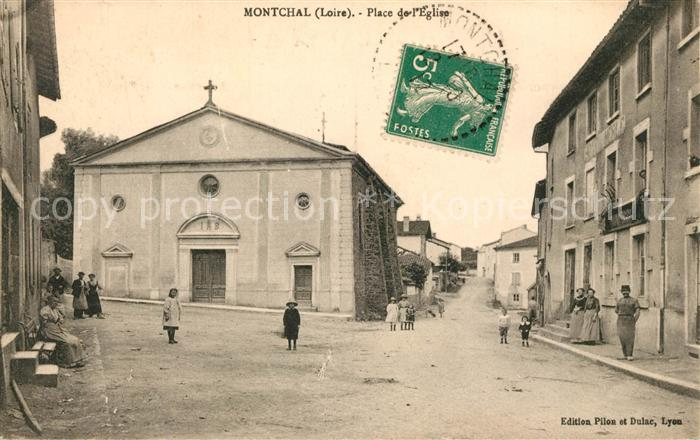 AK / Ansichtskarte Montchal Place de Eglise Montchal