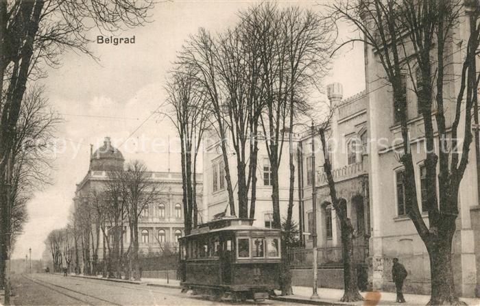AK / Ansichtskarte Belgrad_Serbien Strassenbahn Belgrad Serbien