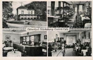 AK / Ansichtskarte Gluecksburg_Ostseebad Central Cafe  Gluecksburg_Ostseebad