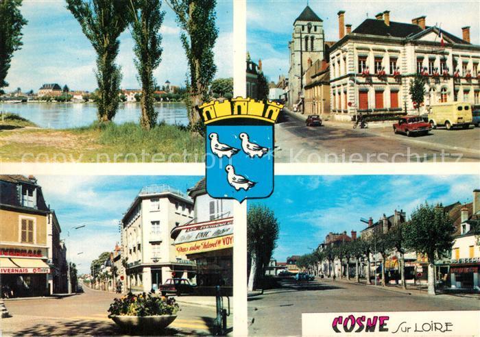 AK / Ansichtskarte Cosne Cours sur Loire Hotel de Ville Loire Rue du 14 Juillet Cosne Cours sur Loire