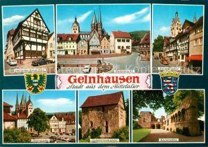 AK / Ansichtskarte Gelnhausen Gotisches Haus Untermarkt Kaiserpfalz Obermarkt  Gelnhausen