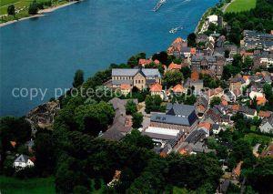 AK / Ansichtskarte Kaiserswerth St Suitbertus Basilika mit Stadt Fliegeraufnahme Kaiserswerth