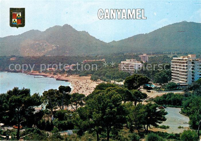 AK / Ansichtskarte Canyamel Panorama Kueste Strand Hotels Berge Canyamel