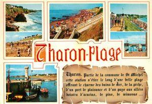 AK / Ansichtskarte Tharon Plage Vue du port et des plages Tharon Plage