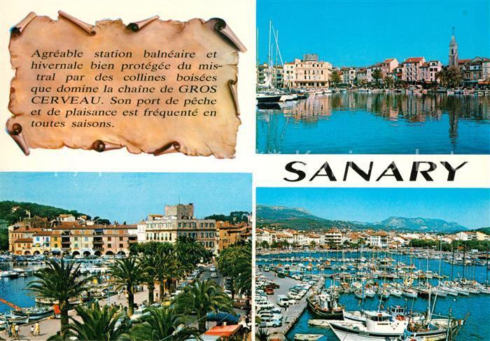AK / Ansichtskarte Sanary sur Mer Vue partielle Le Port Sanary sur Mer