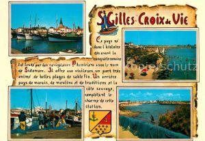 AK / Ansichtskarte Saint Gilles Croix de Vie_Vendee Le Port La Plage Saint Gilles Croix de Vie