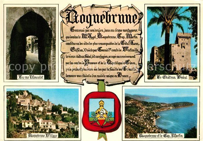 AK / Ansichtskarte Roquebrune Cap Martin Rue Moncollet Chateau Treodal Village Cap Martin Roquebrune Cap Martin