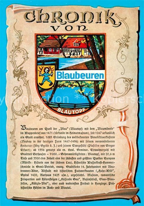 AK / Ansichtskarte Blaubeuren Chronik  Blaubeuren