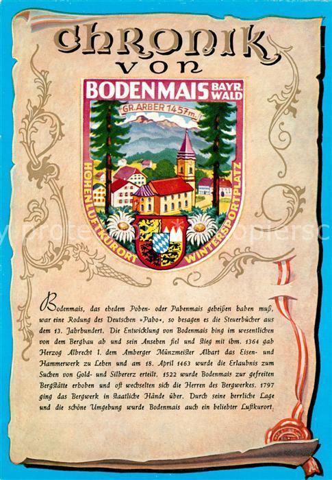 AK / Ansichtskarte Bodenmais Chronik  Bodenmais
