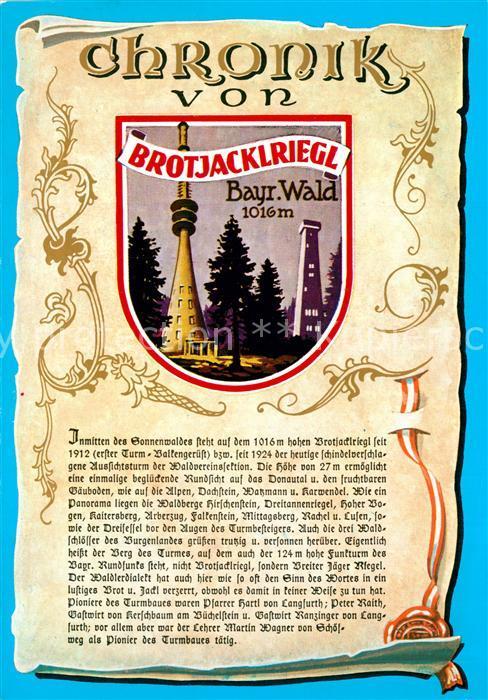 AK / Ansichtskarte Brotjacklriegel Chronik  Brotjacklriegel