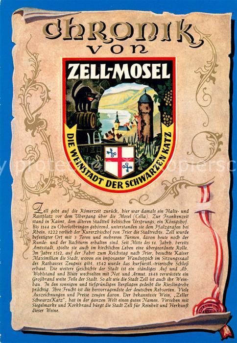 AK / Ansichtskarte Zell_Mosel Chronik  Zell_Mosel