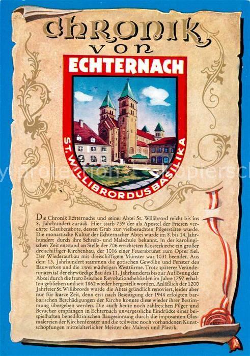 AK / Ansichtskarte Echternach St. Willibrordus Basilika Chronik  Echternach