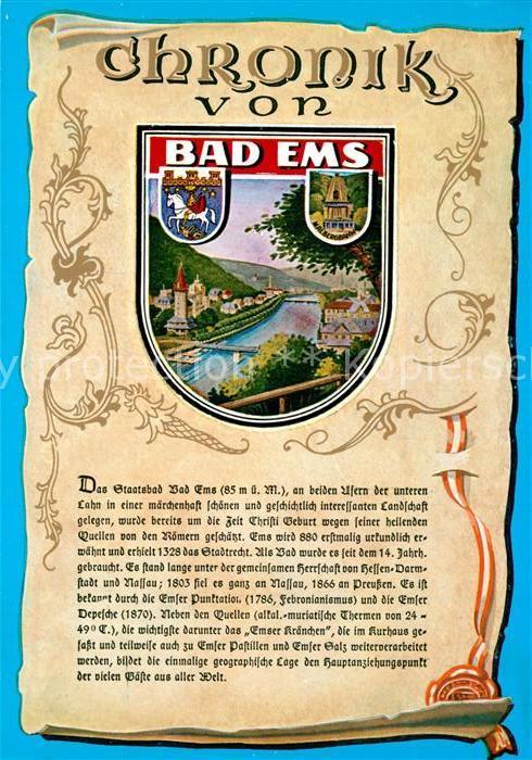 AK / Ansichtskarte Bad_Ems Chronik  Bad_Ems