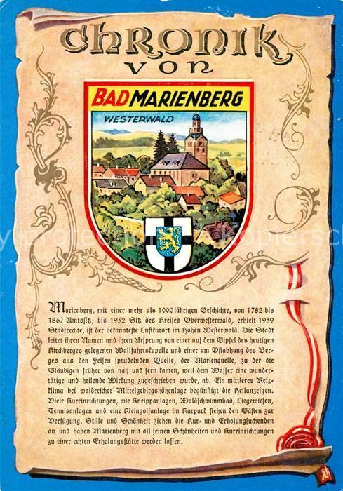 AK / Ansichtskarte Bad_Marienberg Chronik  Bad_Marienberg