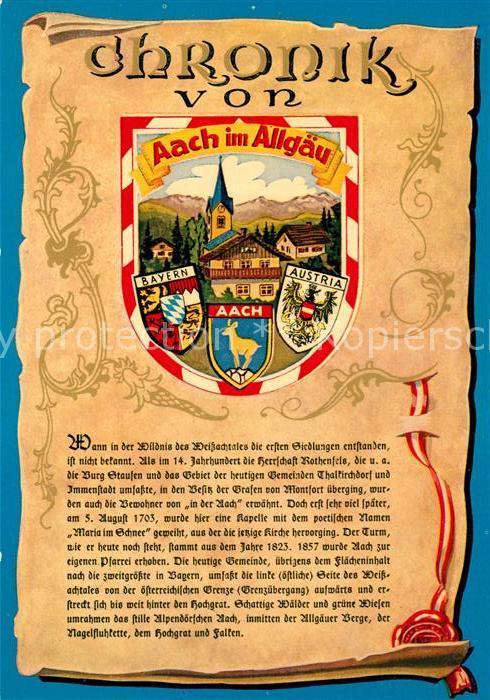 AK / Ansichtskarte Aach_Oberstaufen Chronik  Aach_Oberstaufen